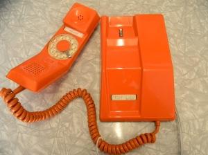 Vintage Orange Dial Phone