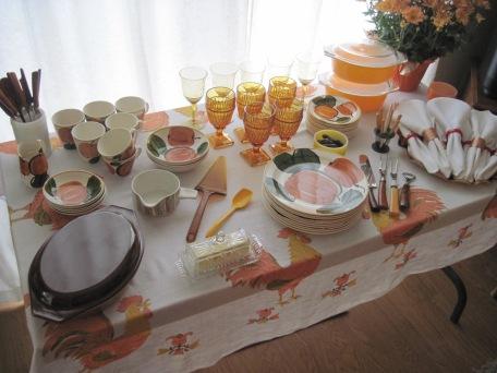 Thanksgiving dinner dishes