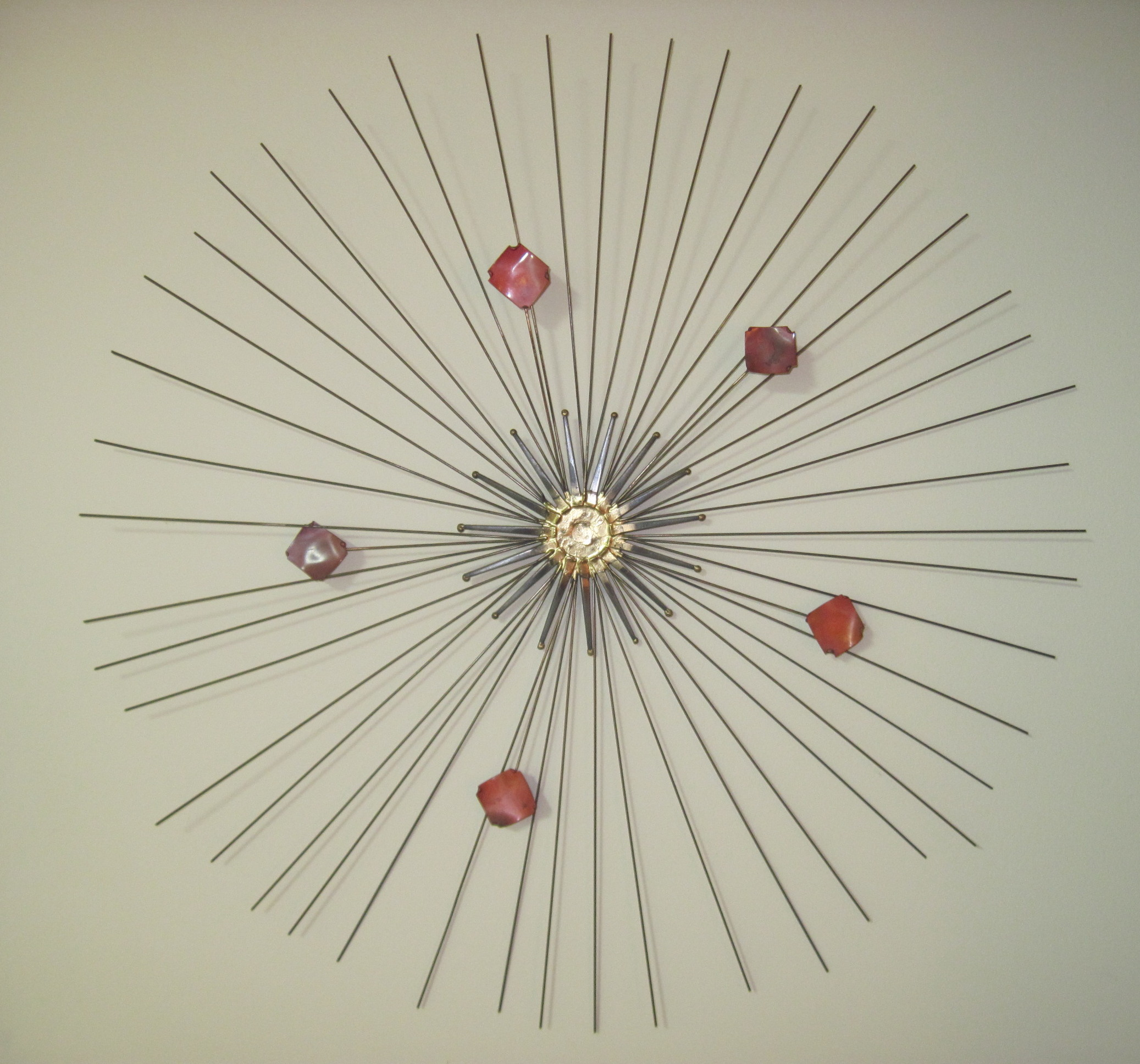 Mid Century Modern Brass Metal Wall Art Fabfindsblog