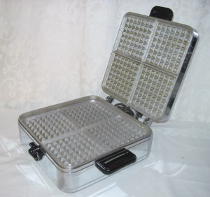sunbeam waffle iron open