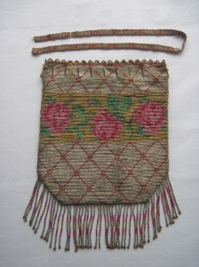 beaded purse rose with strap