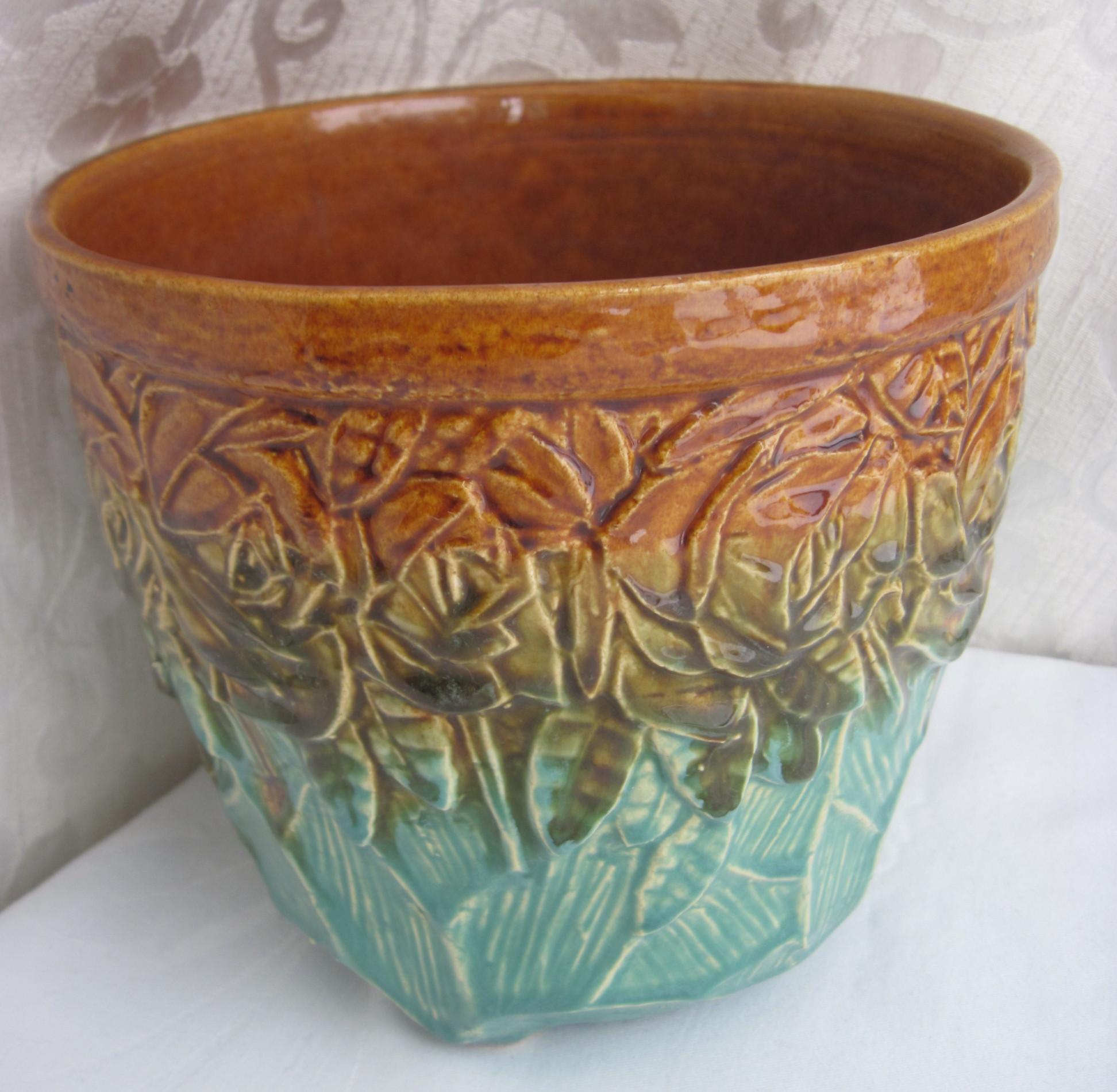 mccoy jardiniere or flower pot   fabfindsblog