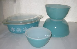 Turquoise pyrex
