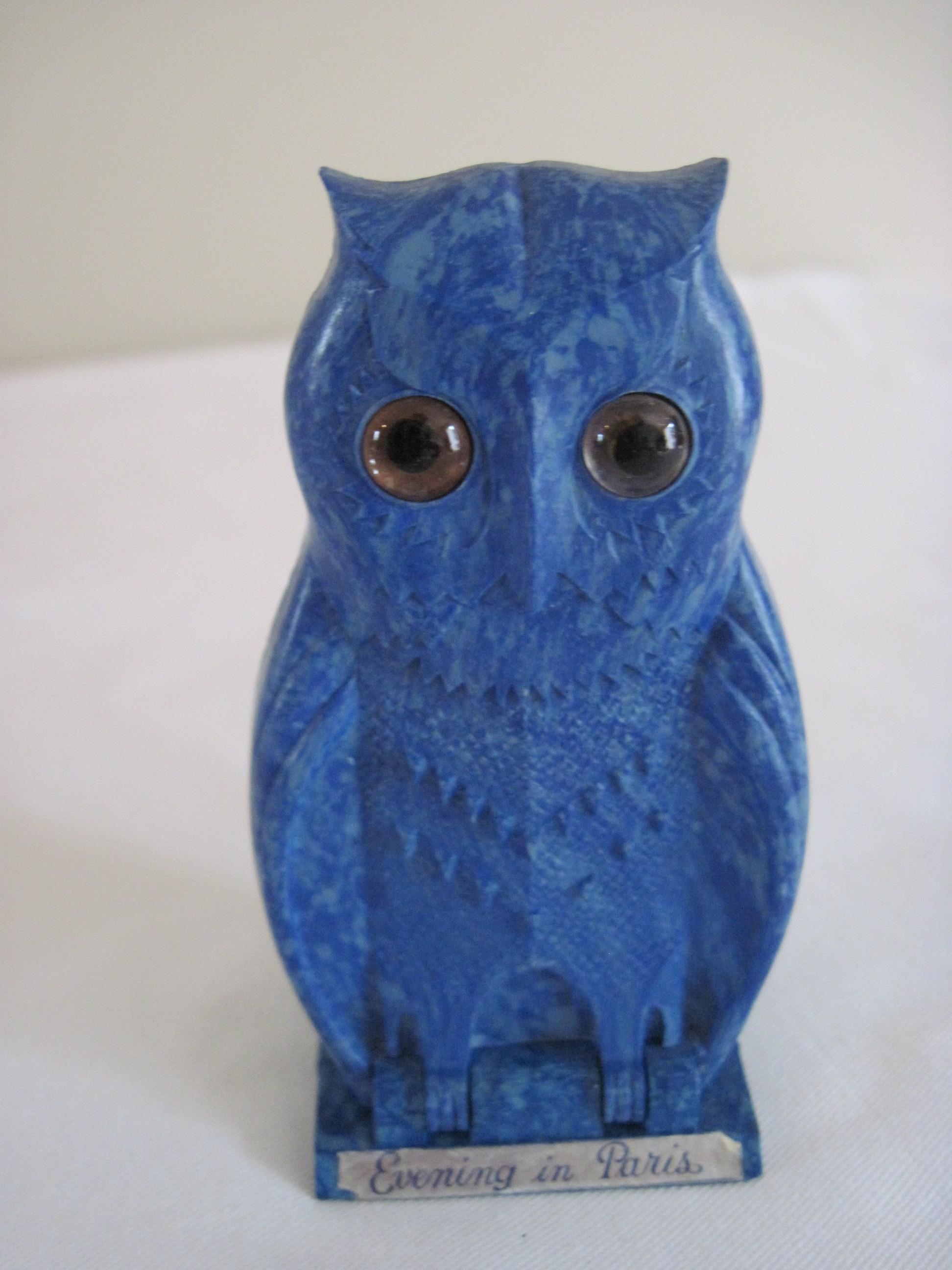 Bakelite Owl Perfume Holder For Evening In Paris Ca 1930