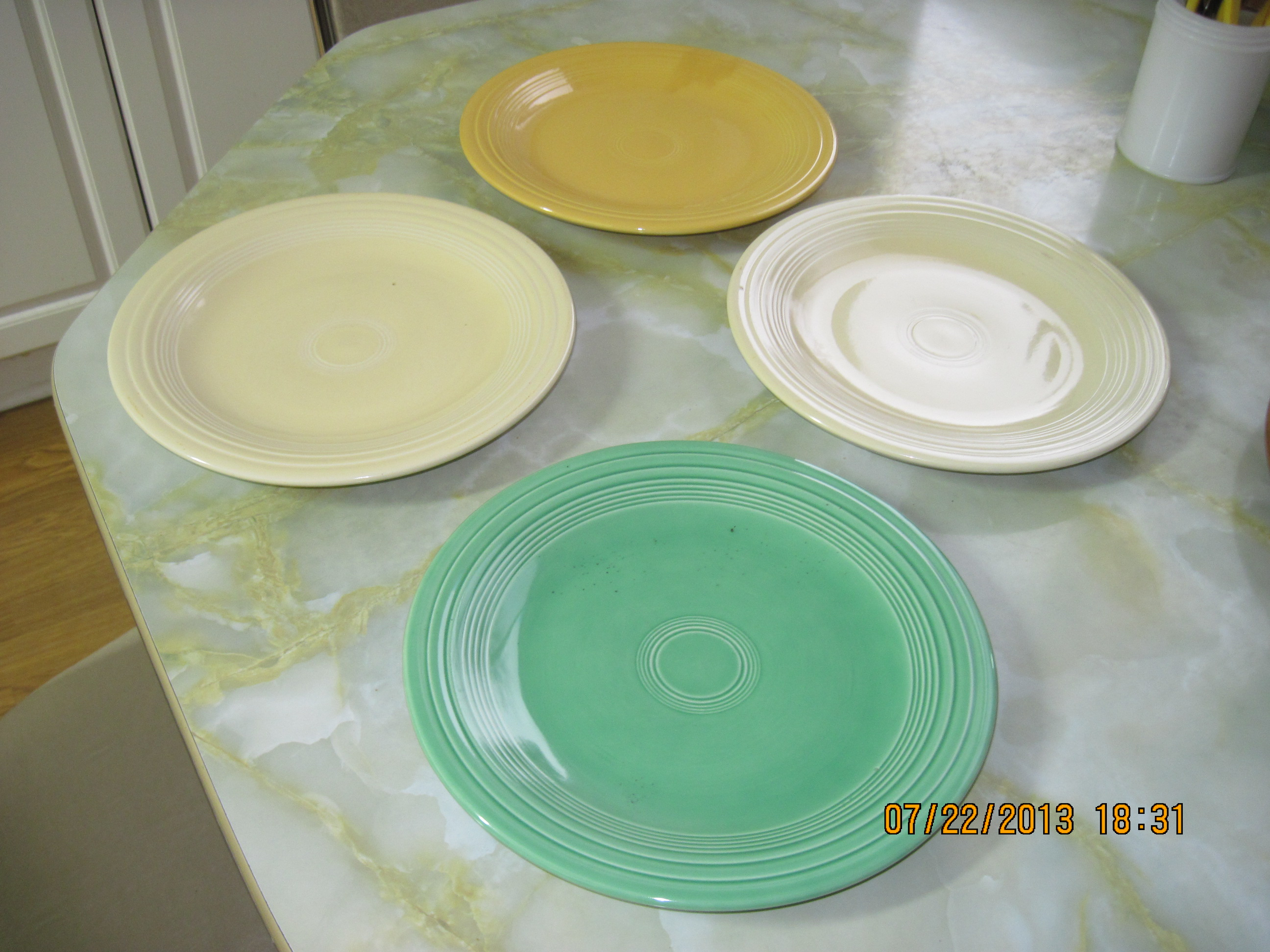 IMG_5861 & Fiesta Ware Plates ca 1930u0027s to 60u0027s by Homer Laughlin Co ...
