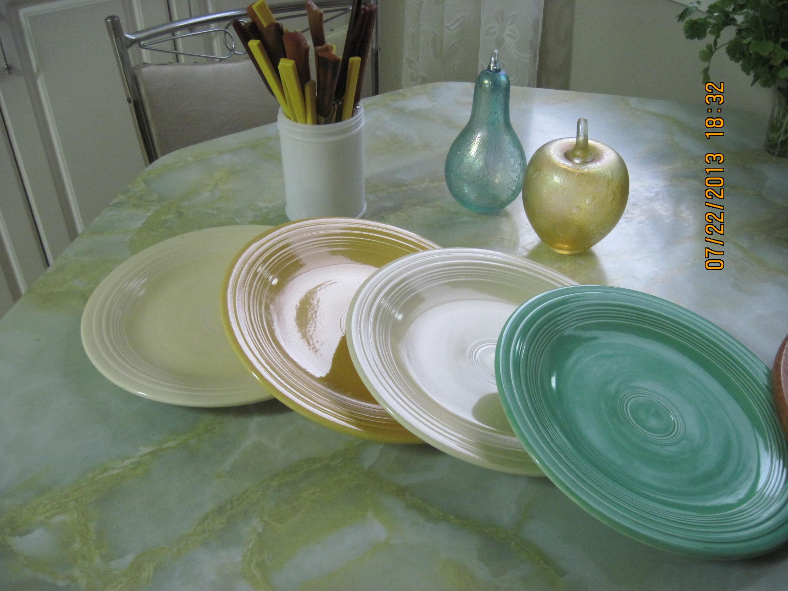 IMG_5863 & Fiesta Ware Plates ca 1930u0027s to 60u0027s by Homer Laughlin Co ...