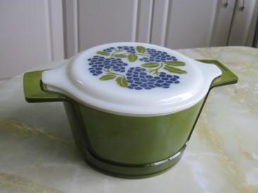 green pyrex casserole