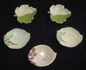 carlton ware 5 dishes