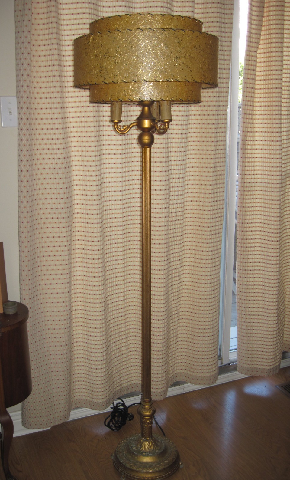 1950s mid century floor lamp with 3 tier atomic for 3 tier floor lamp