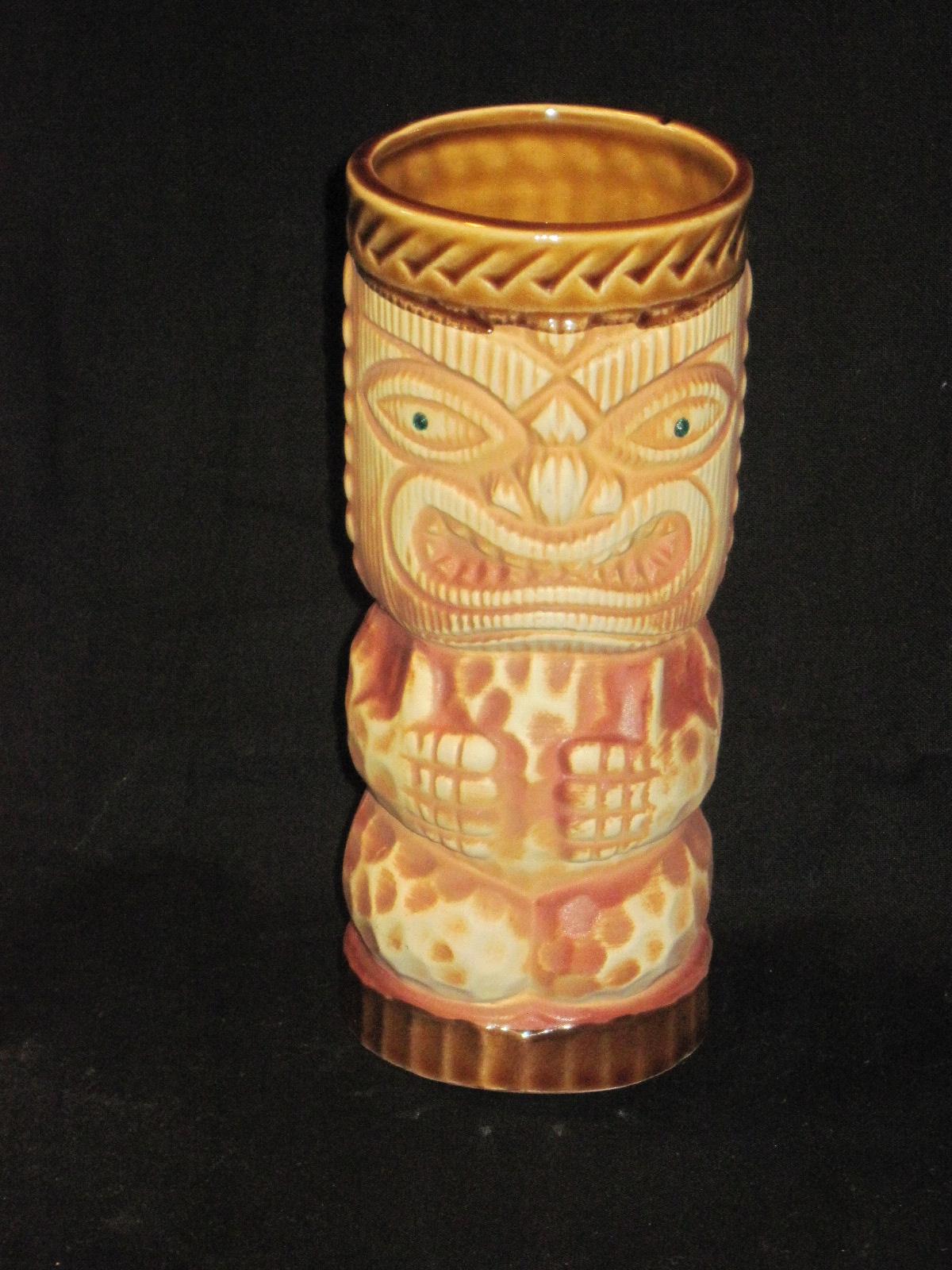 Mid 20th Century Ceramic Tiki Mugs Hawaiian Themes