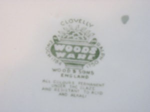 woods ware backstamp