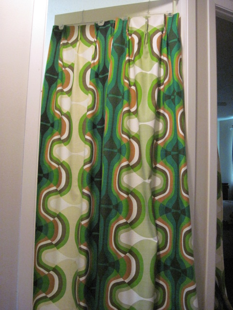 Mod Patterned Floor To Ceiling Panels, Mid Century