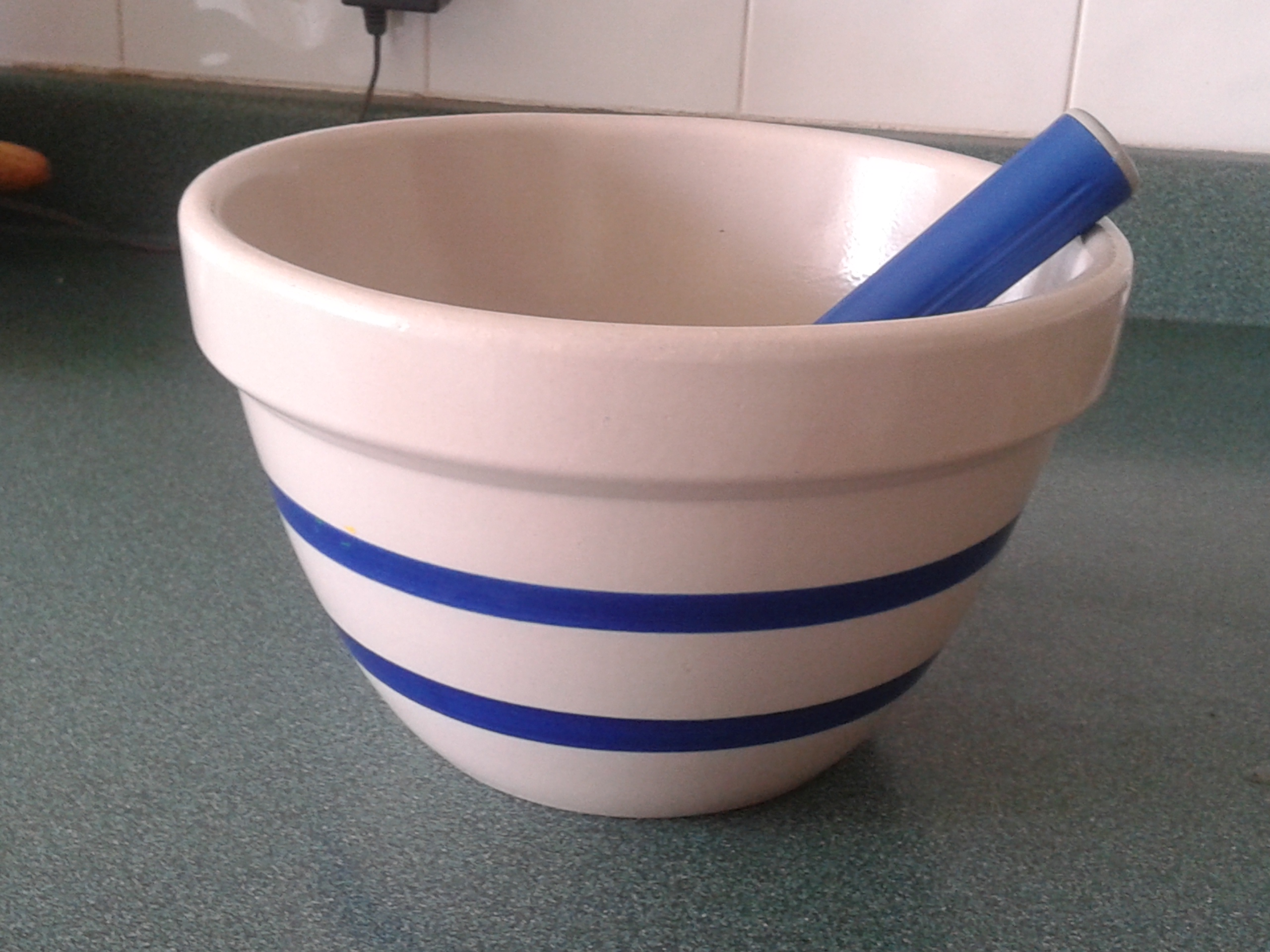 Roseville Pottery Striped bowl